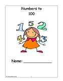 Numbers to 100 Student Workbooklet/Worksheets (greater tha
