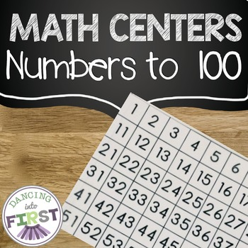 Math Centers- Numbers to 100 and Skip Counting Unit