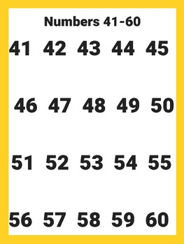 Numbers to 100 in chunks
