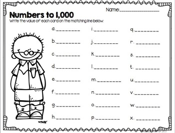Numbers to 1,000 Common Core 2.NBT.3