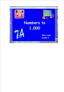 Numbers to 1,000 Part I