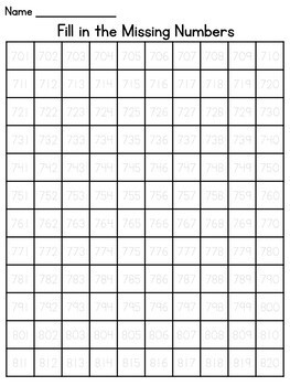 Numbers to 1000 Tracing Worksheets (Now with Numbers to 1200 and above!)