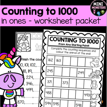 Numbers to 1000 Worksheets