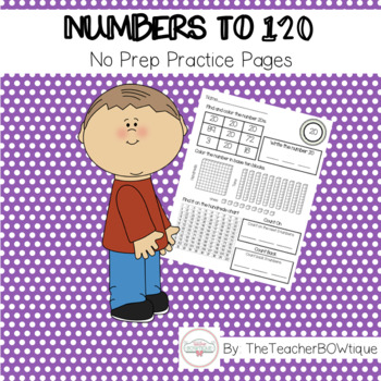 Numbers to 120 No Prep Pages
