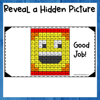 Numbers to 120 - Solve and Color - Expanded Form - PowerPoint Hidden Picture