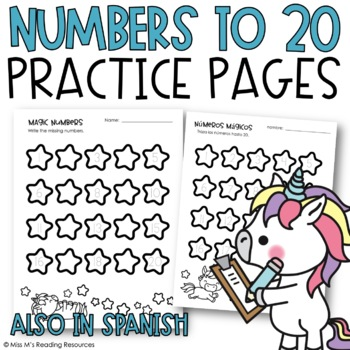 Numbers to 20 Practice Pages