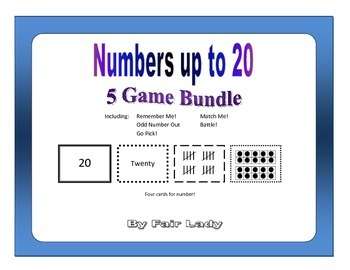 Numbers to 20 - 5 Game Bundle