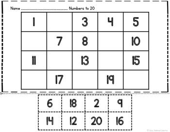 Numbers to 20 Activities