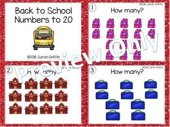 Numbers to 20 ~ Back to School Math Center ~ Task Cards