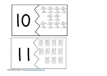 Numbers to 20 Beach Puzzles