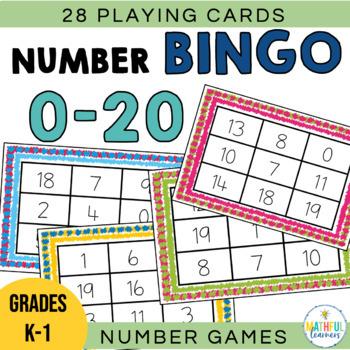Number Bingo 0 20 Worksheets Teaching Resources Tpt