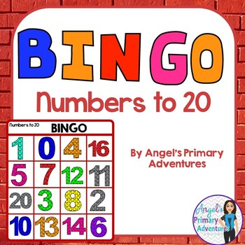 Numbers to 20 Bingo Game