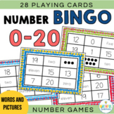 Numbers to 20 Bingo with Words and Pictures