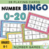 Number Bingo: Numbers 0 to 20