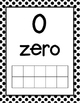 Numbers to 20 Black and White Polka Dot Pattern Posters