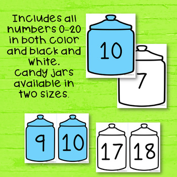 Numbers to 20 - Candy Jar Match Up - 1-10 and Teen Numbers