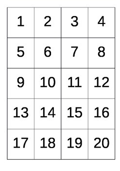 Numbers to 20 - Cards and Ten  Frames