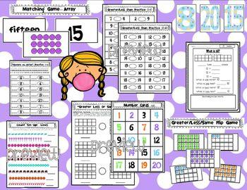Numbers to 20 - Common Core Kindergarten Math - Unit 2