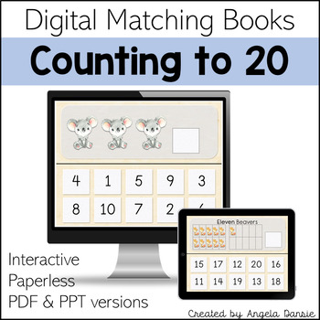 Numbers to 20 | Counting Books | Digital Matching Books for Special Education