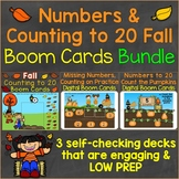 Numbers to 20 & Counting to 20 Fall Digital Boom Cards Bundle