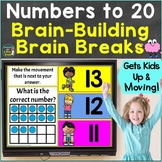 Numbers to 20, Counting with Brain Breaks Movement Google