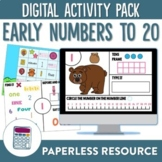 Numbers to 20 Digital Activity Pack