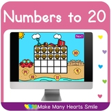 Numbers to 20 Distance Learning Game MHS113