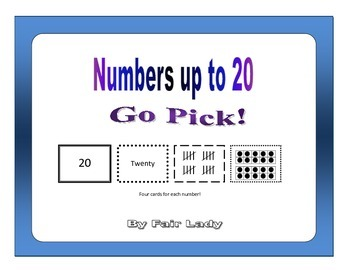 Numbers to 20 - Go Pick!