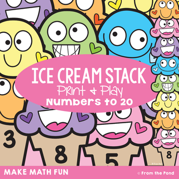 Numbers to 20 - Ice Cream Stack Counting