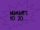 Numbers to 20 Interactive PowerPoint