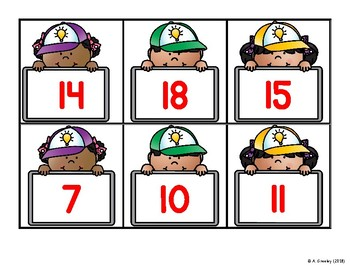 Numbers to 20 Math Centers (Center 4) - Base Ten Blocks