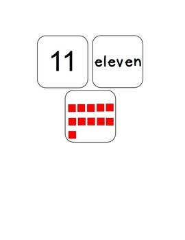Numbers to 20 Match Game