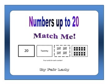 Numbers to 20 - Match Me!