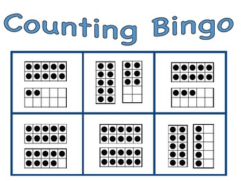 Numbers to 20- Math Bingo Games Pack