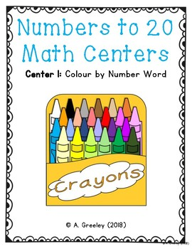 Numbers to 20 Math Centers (Center 1) - Number Words