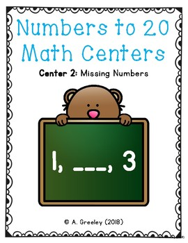 Numbers to 20 Math Centers (Center 2)  - Missing Numbers