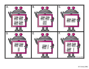 Numbers to 20 Math Centers (Center 3)  - Tally Marks