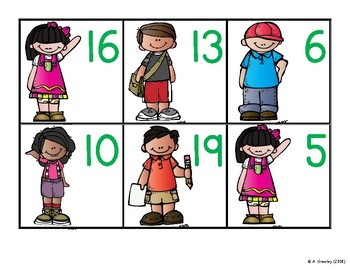 Numbers to 20 Math Centers (Center 5) - Ten Frames