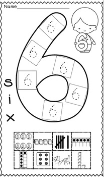 Numbers to 20 - Math Cut and Pastes by Kinder League