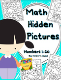 Numbers to 20- Math Hidden Pictures by Kinder League