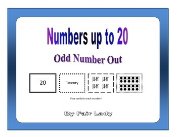 Numbers to 20 - Odd Number Out