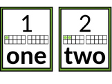 Numbers to 20 Posters with Written Number and Ten Frame