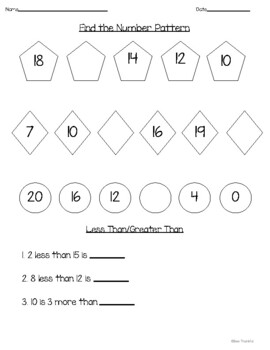 Numbers to 20 Practice
