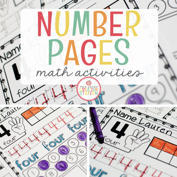 NUMBERS TO 20 MATH PRINTABLES