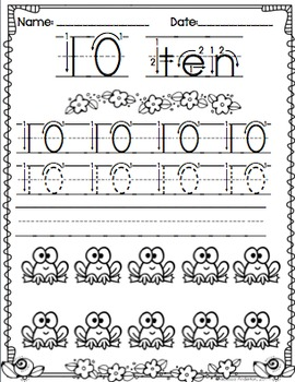 Numbers to 20 Printables Common Core