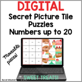 Numbers to 20 Digital Secret Puzzle Tiles for the Google™
