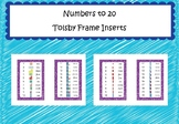 Numbers to 20 - Tolsby Frame Inserts (Base 10 and Numicon)