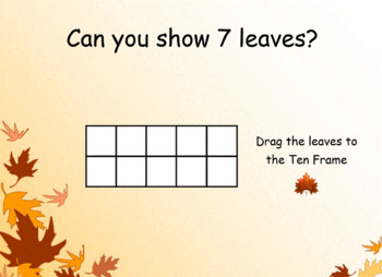 Numbers to 20 Using a 10 Frame (Fall Theme) SMART Notebook Lesson