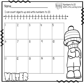 Numbers to 20 ~ Winter Math Center ~ Task Cards SCOOT