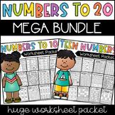 Numbers to 20 Worksheets - MEGA BUNDLE